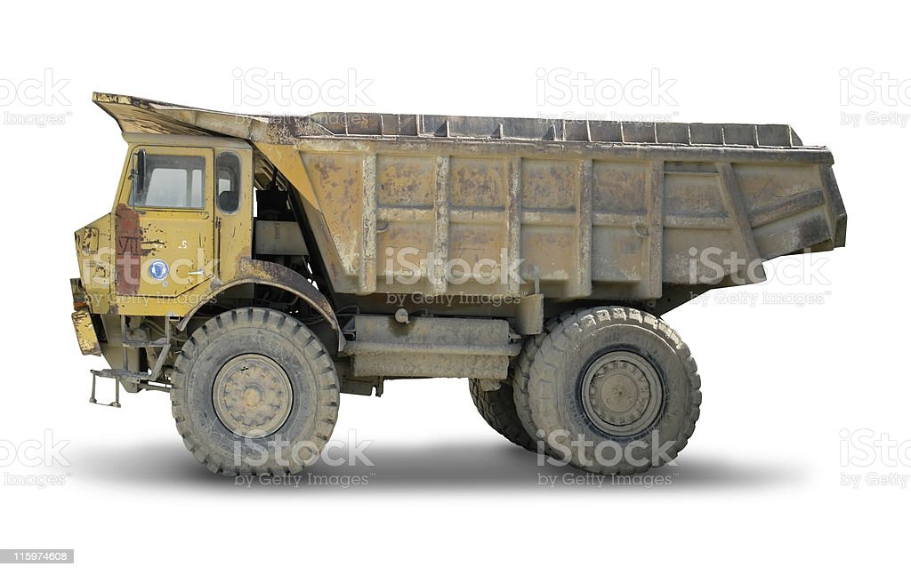isolated old yellow skip royalty-free stock photo