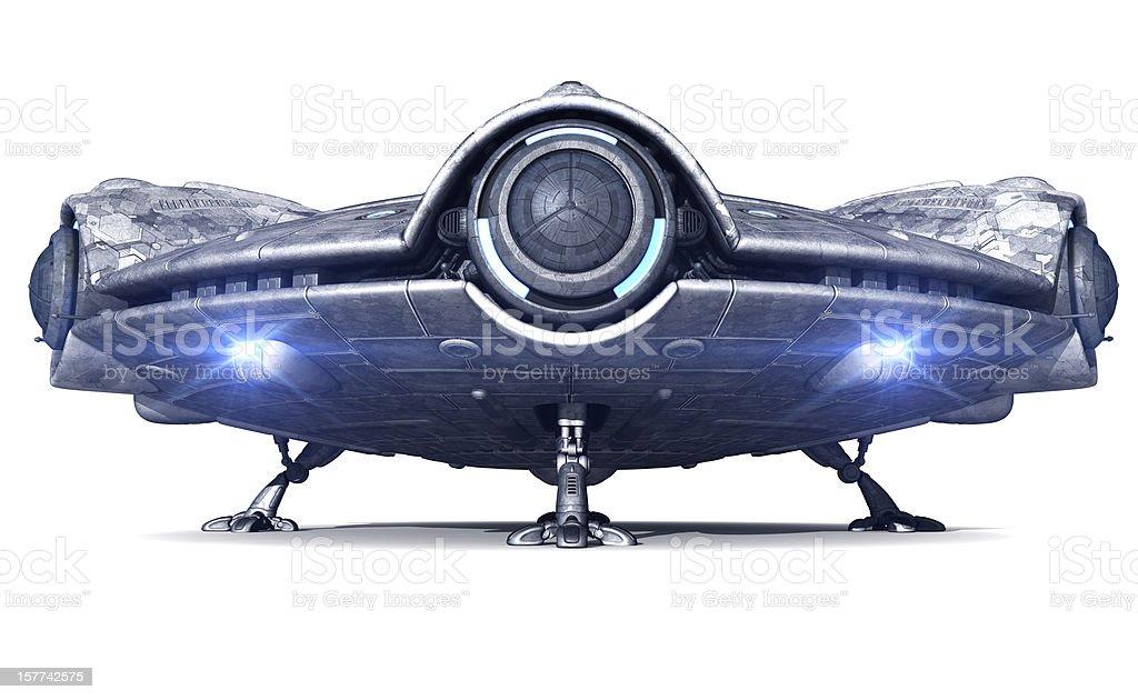 UFO isolated on white background stock photo
