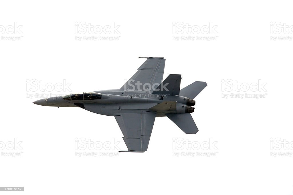 F/A-18 Isolated On White royalty-free stock photo