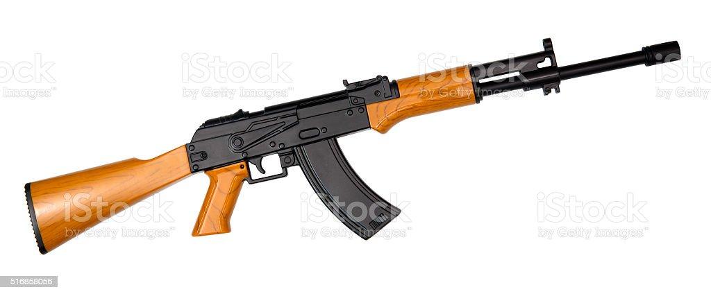 AK-47 isolated on white stock photo