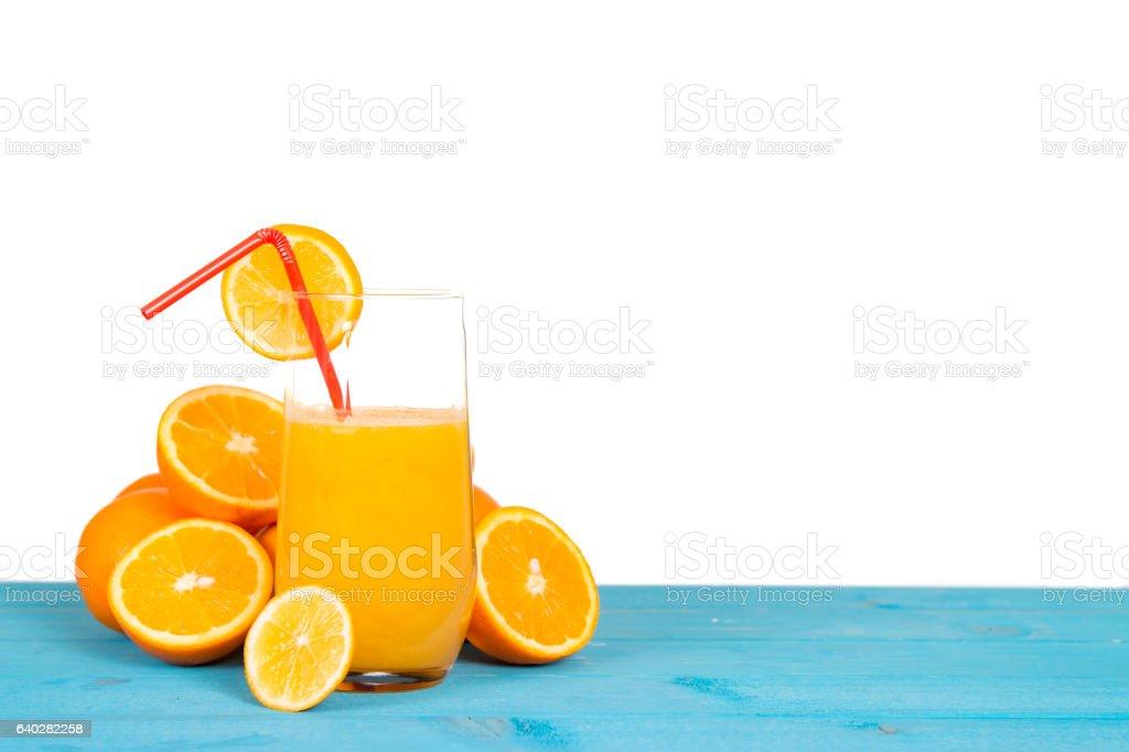 isolated orange juice stock photo