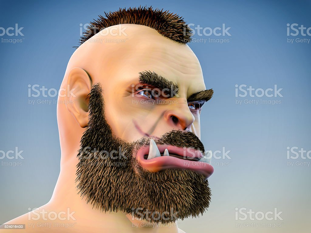 3D Isolated Orc Illustration stock photo