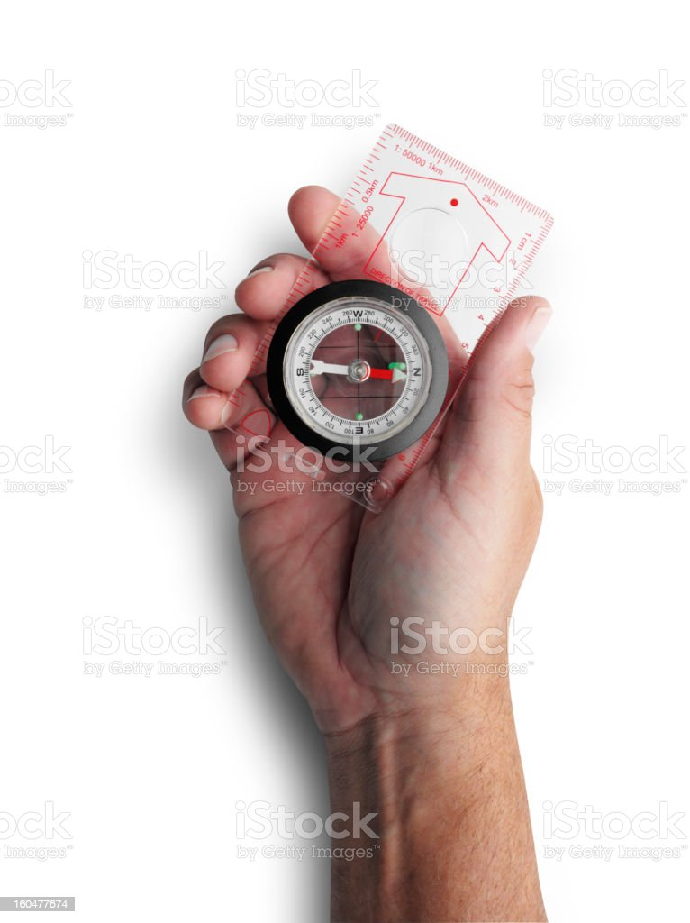 Isolated Orienteering Compass royalty-free stock photo