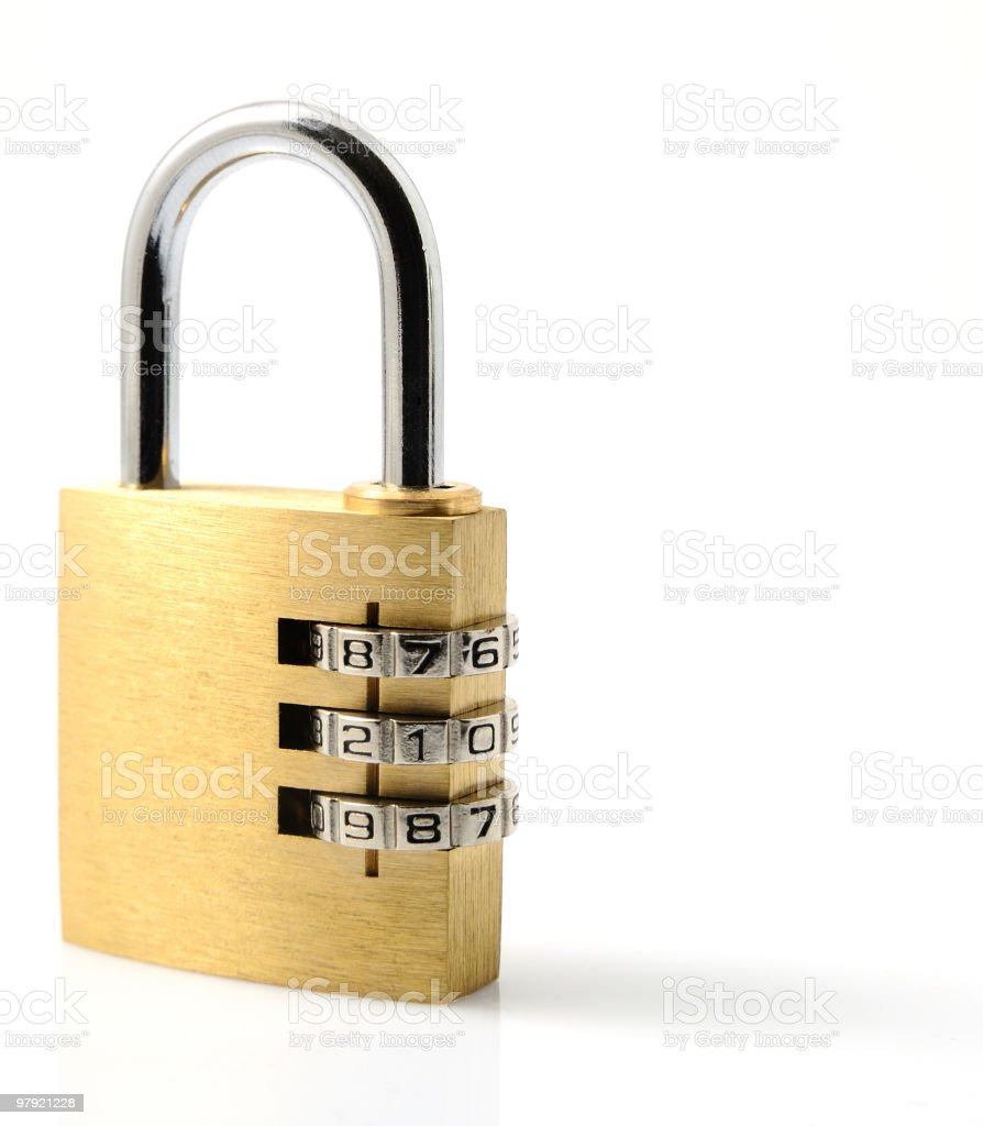 Isolated padlock royalty-free stock photo