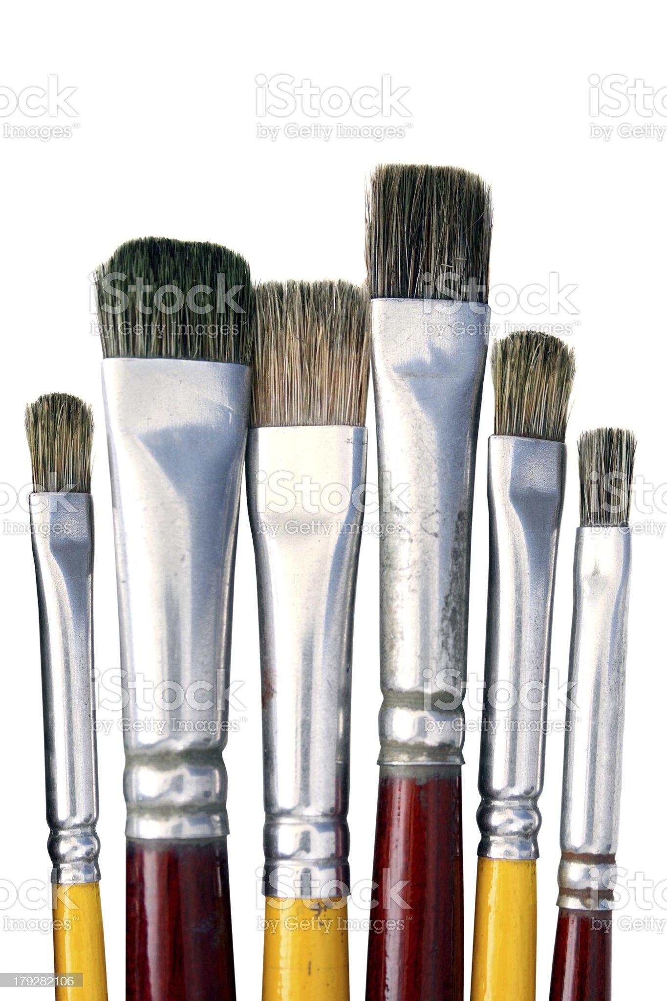 Isolated Paintbrushes royalty-free stock photo