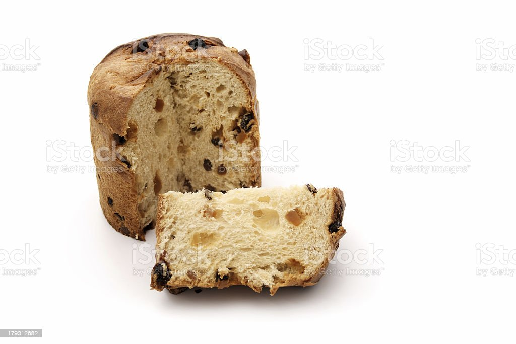 Isolated panettone royalty-free stock photo
