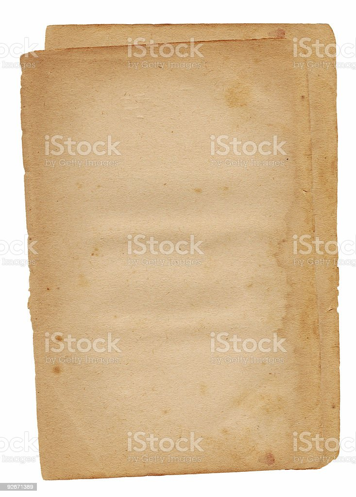 Isolated Paper royalty-free stock photo