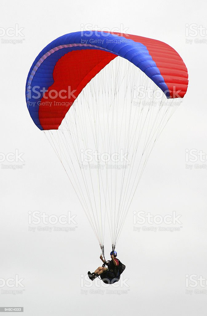 Isolated Paraglider stock photo