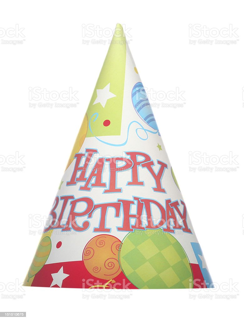 Isolated party hat stock photo