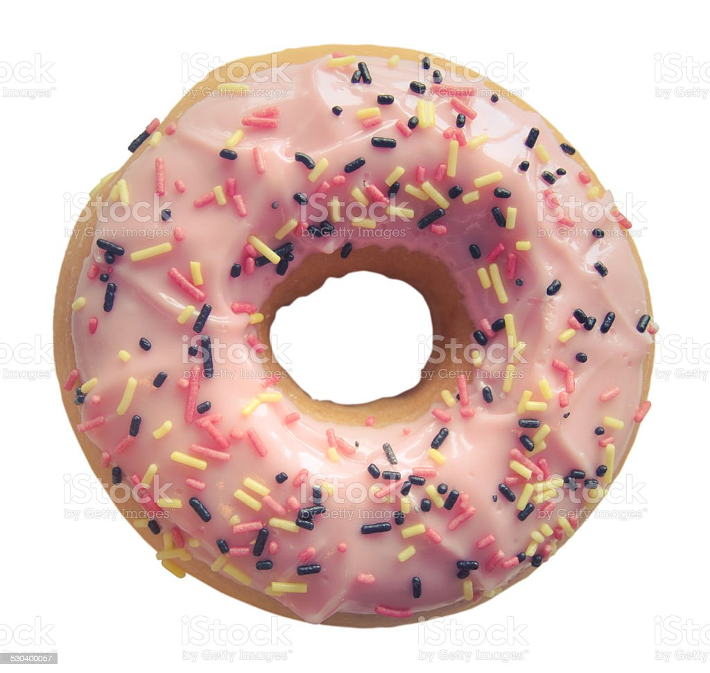 Isolated Pastel Pink Donut stock photo