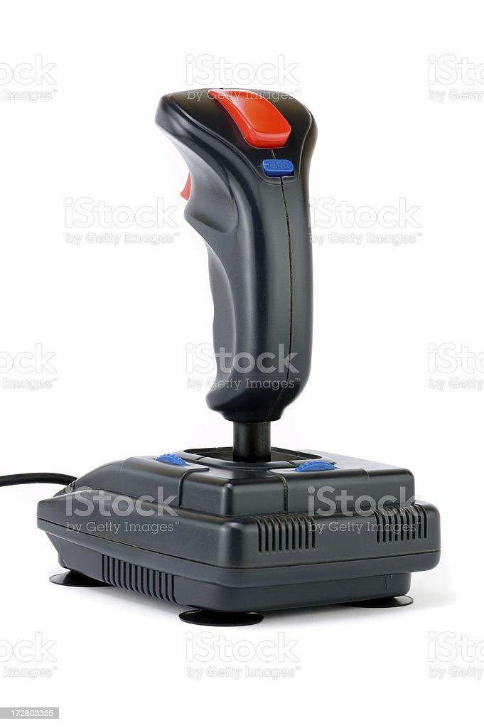 Isolated PC game joystick royalty-free stock photo