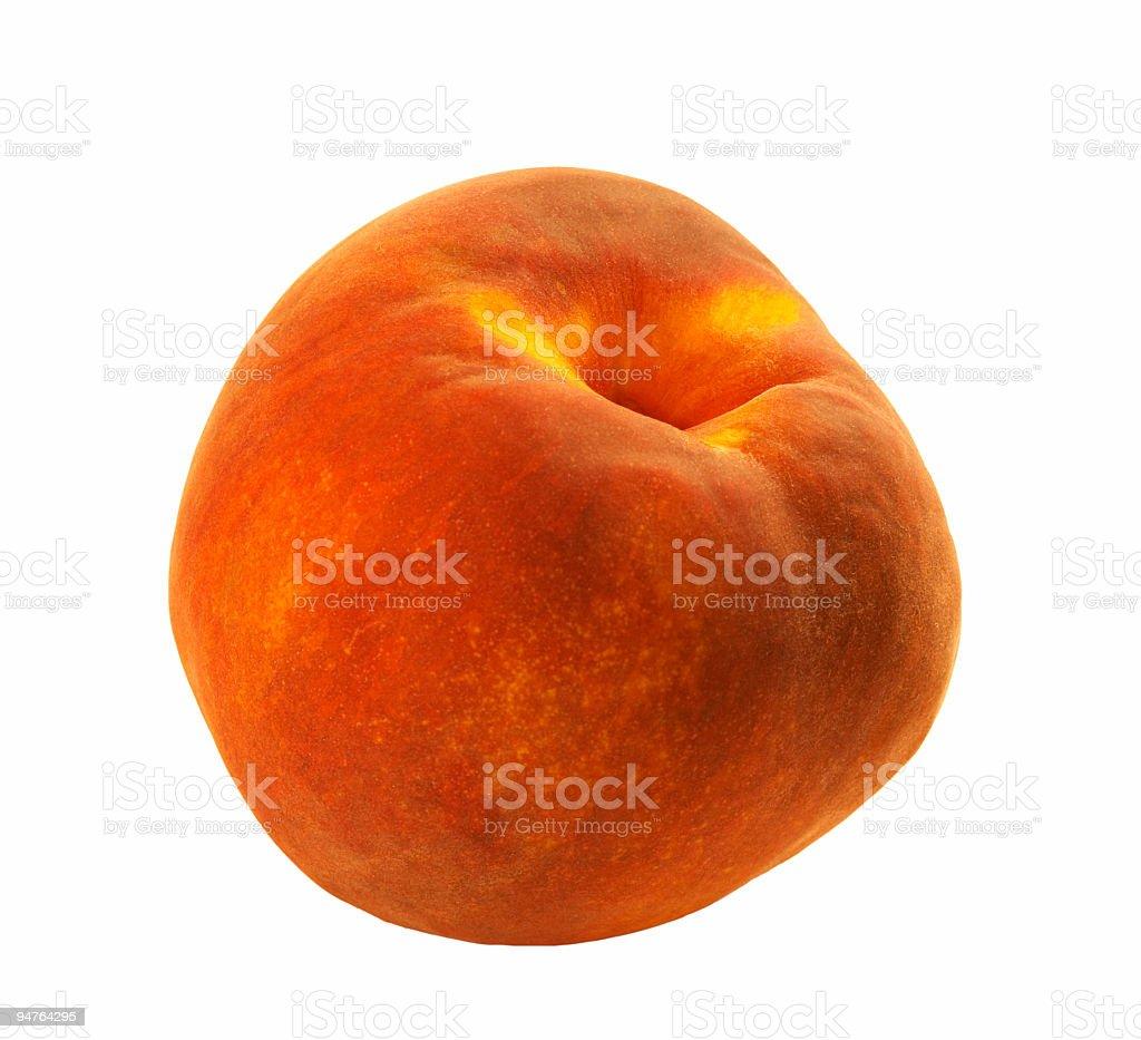 isolated peach stock photo