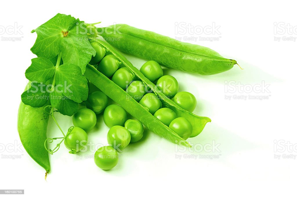 isolated peas royalty-free stock photo