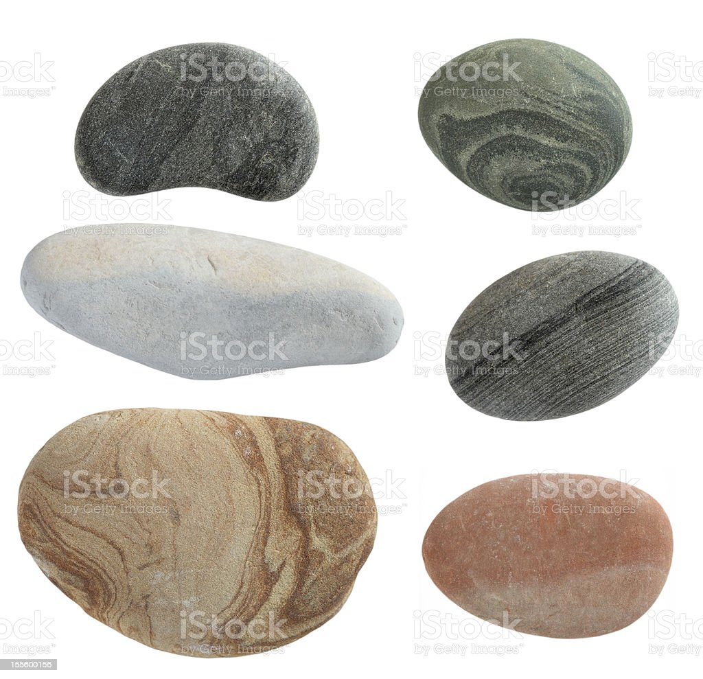 isolated pebbles stone stock photo