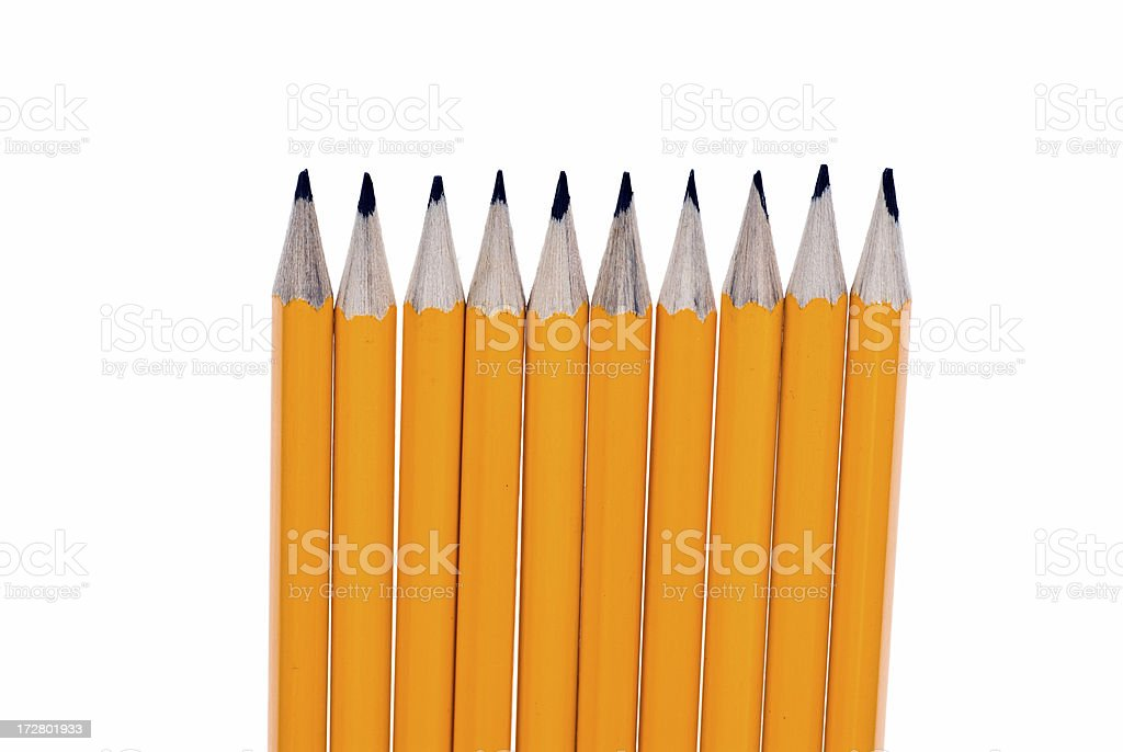 Isolated Pencils royalty-free stock photo