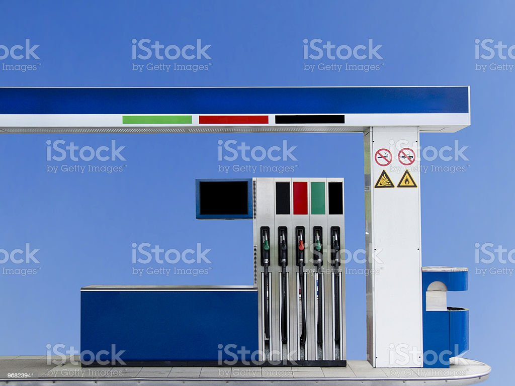 Isolated Petrol station royalty-free stock photo