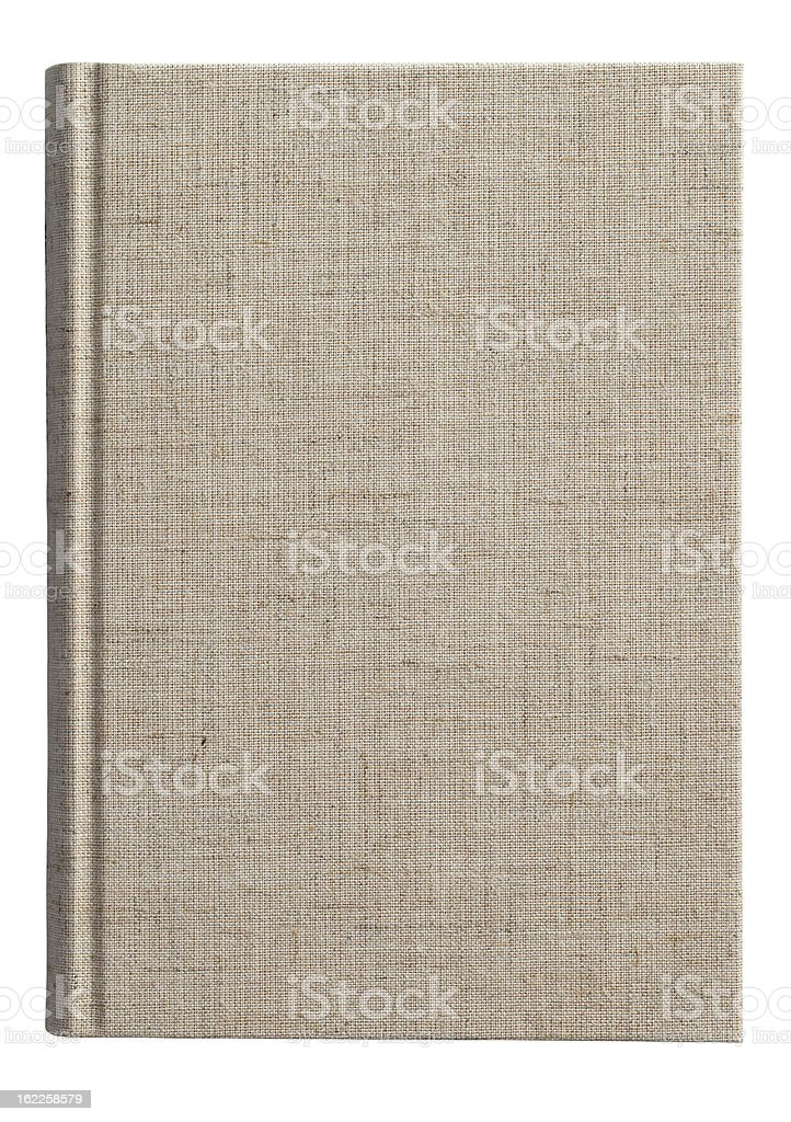 Isolated photo of a fabric covered book cover stock photo