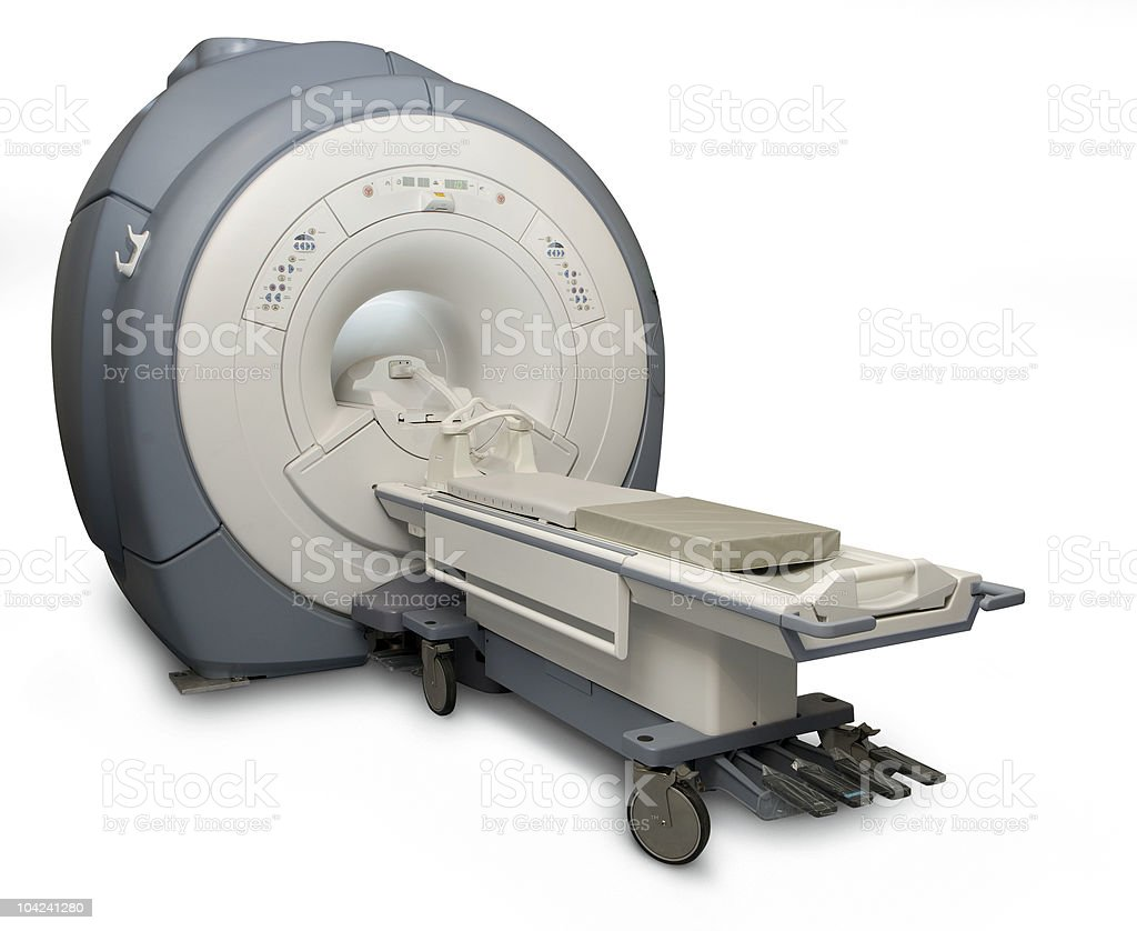 MRI isolated stock photo