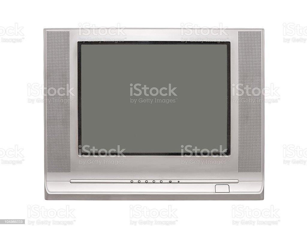 TV isolated royalty-free stock photo