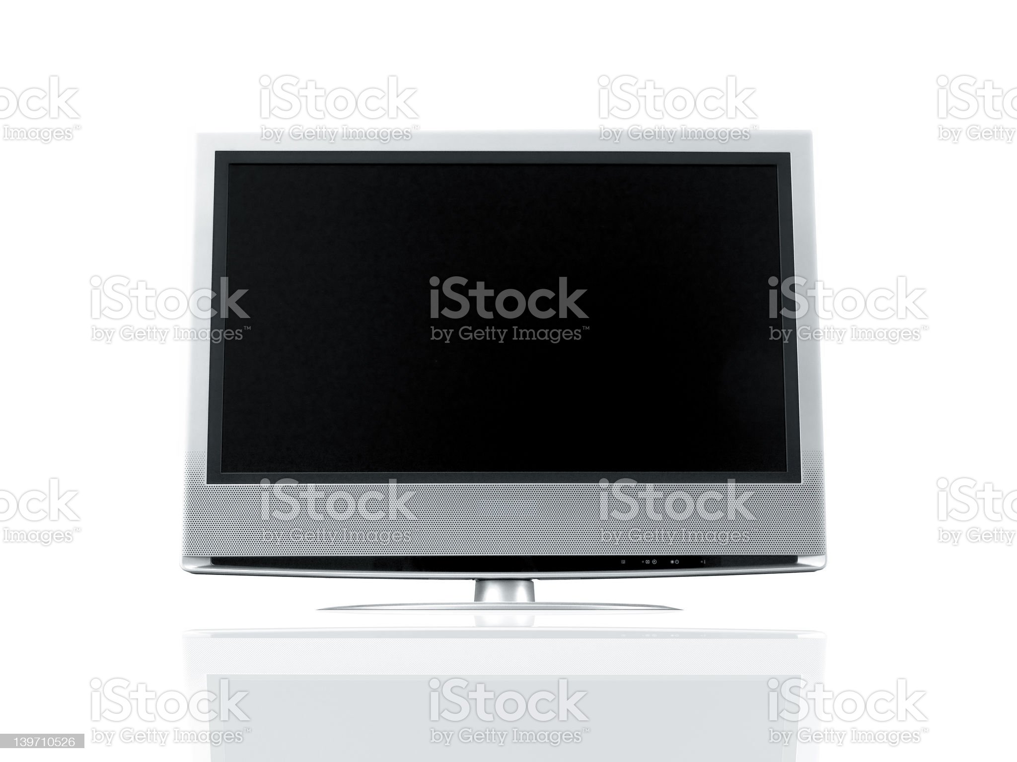 LCD Isolated royalty-free stock photo