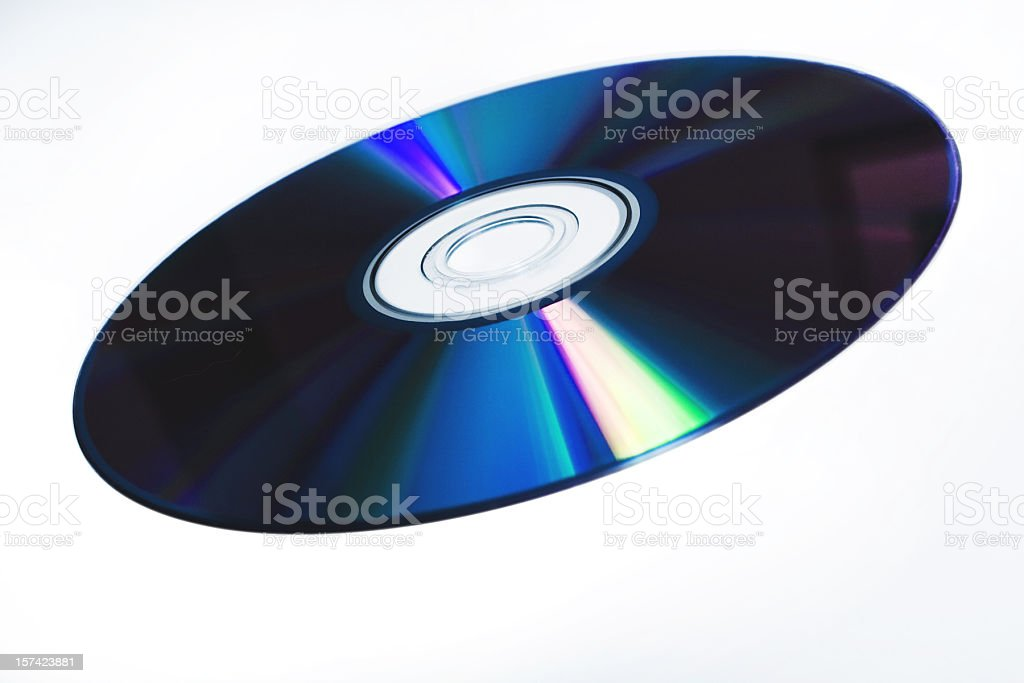 DVD CD BLUE RAY isolated stock photo
