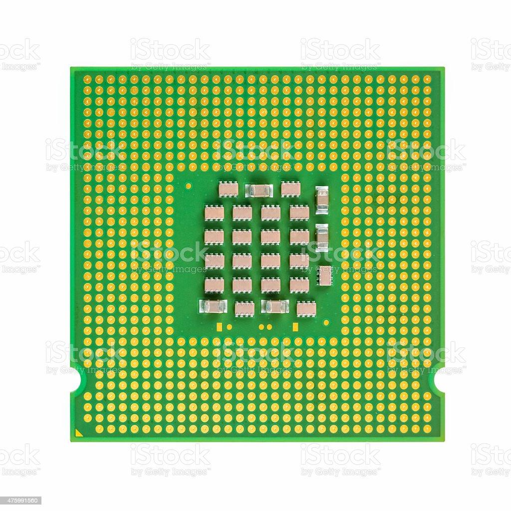 CPU isolated stock photo
