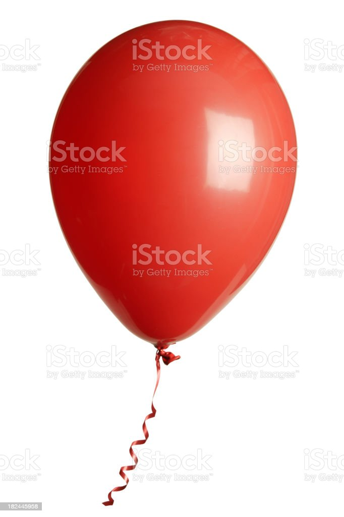 Isolated picture of a red balloon royalty-free stock photo