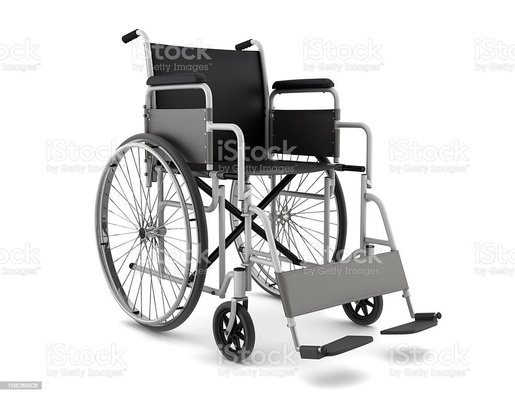 Isolated picture of a wheelchair for disabled people royalty-free stock photo