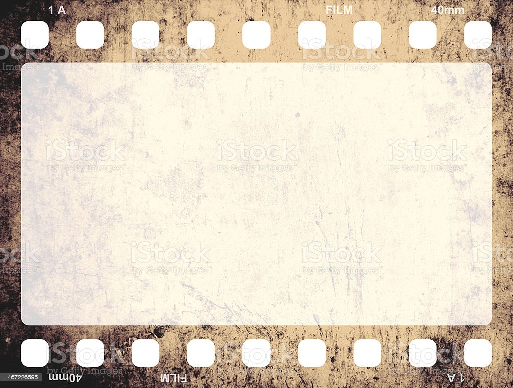 Isolated picture of an old film frame stock photo