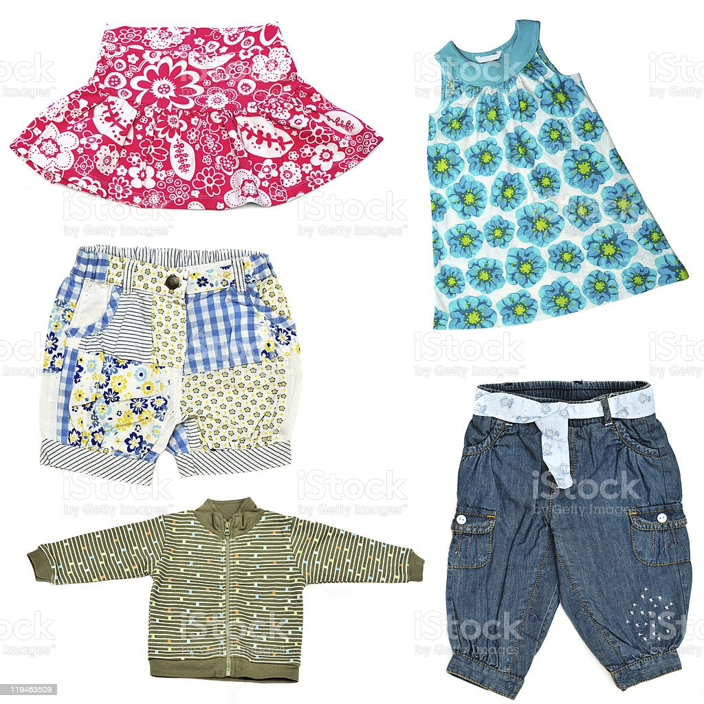 Isolated picture of baby girl clothes stock photo
