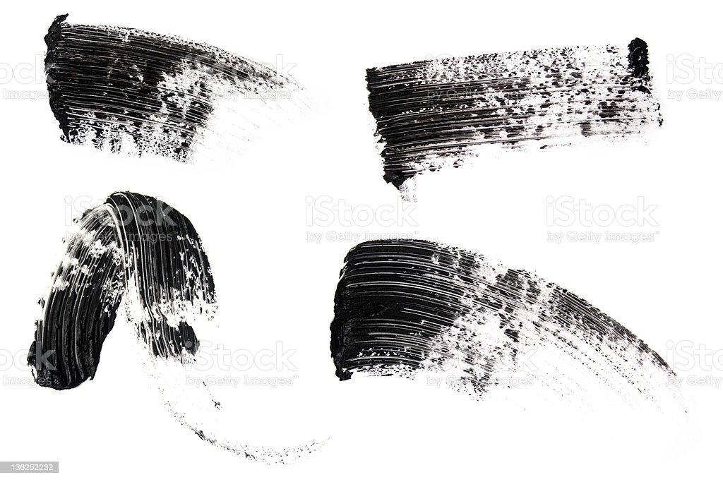 Isolated picture of mascara smears stock photo