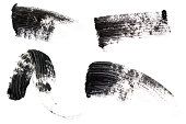 Isolated picture of mascara smears