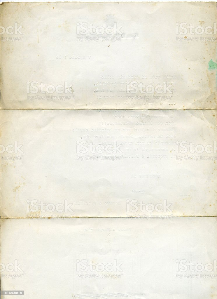 Isolated picture of old, aged white paper royalty-free stock photo