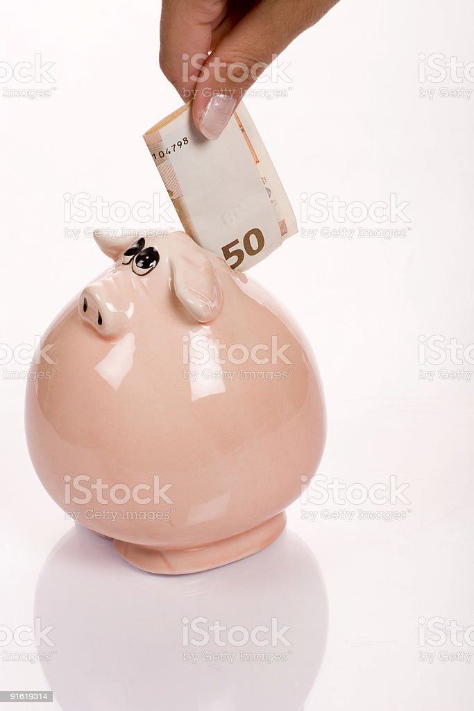 Isolated Piggy Bank royalty-free stock photo