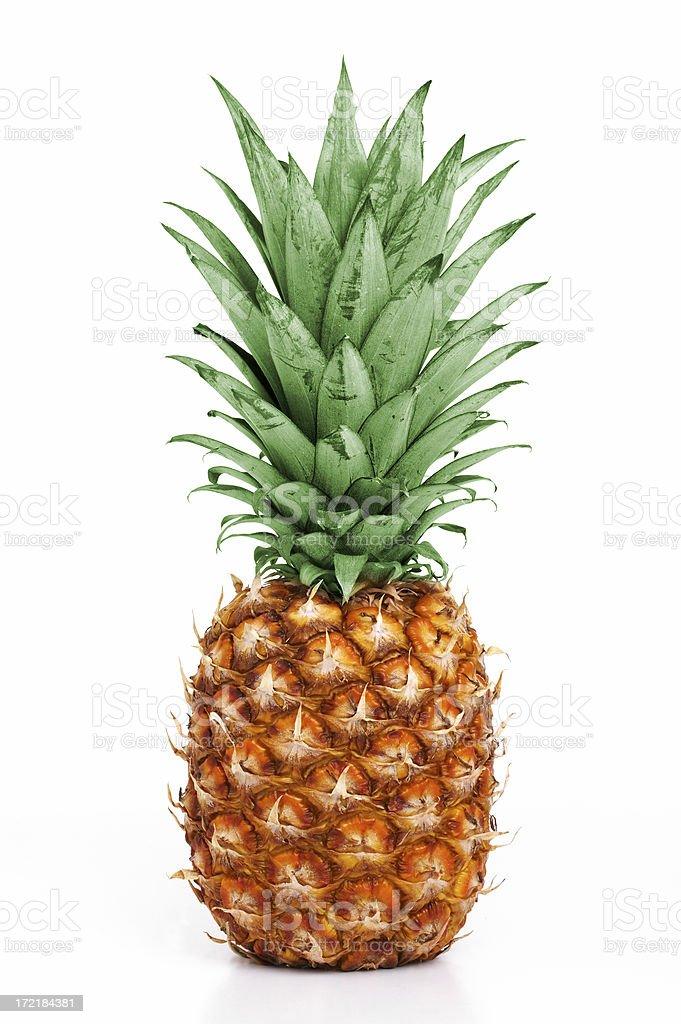 Isolated pineapple on white background stock photo