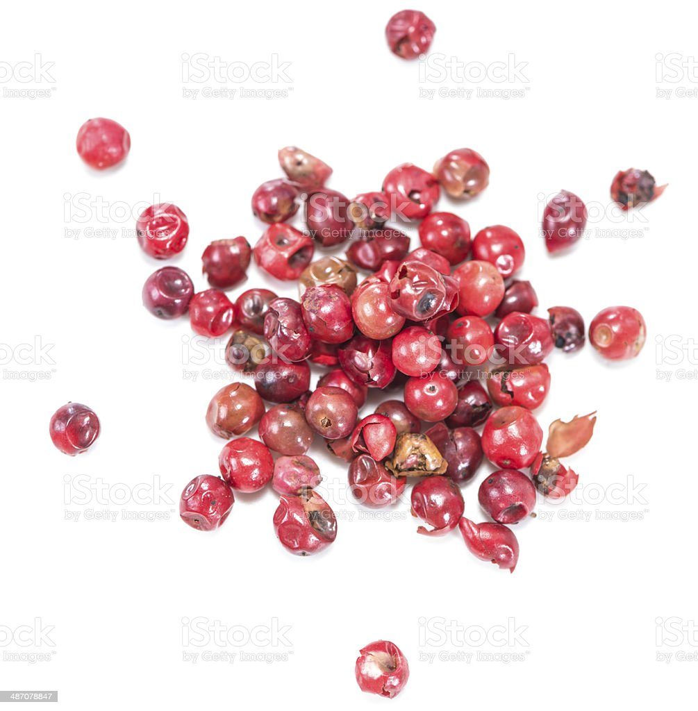 Isolated Pink Peppercorns royalty-free stock photo