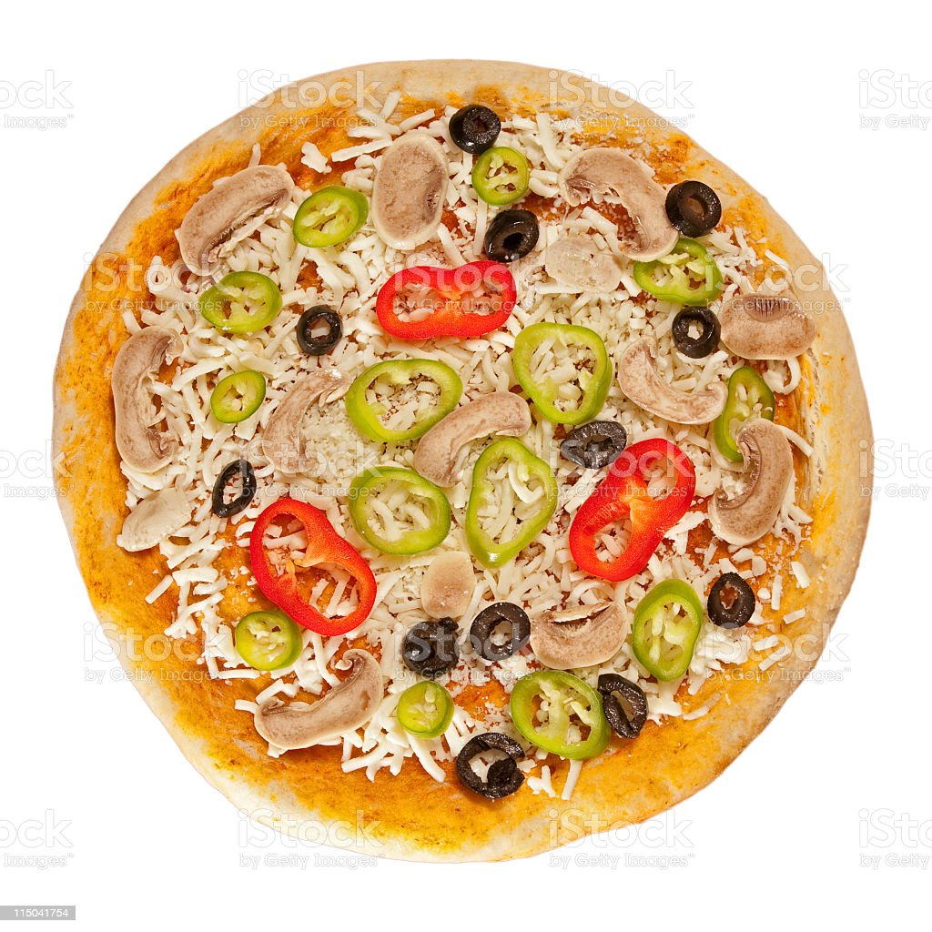 isolated pizza stock photo