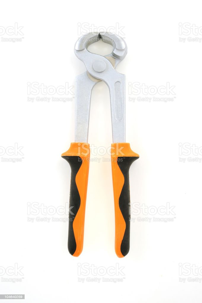 Isolated pliers royalty-free stock photo