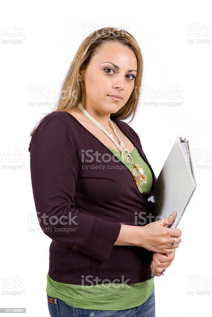 Isolated Portraits-Beautiful Hispanic Woman royalty-free stock photo