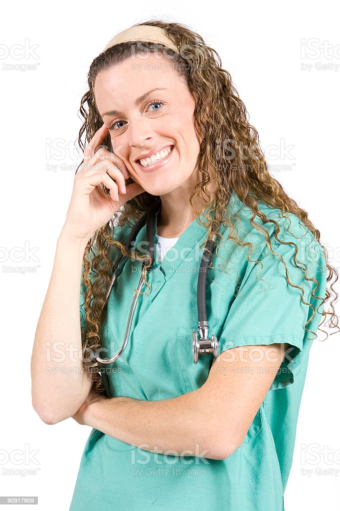 Isolated Portraits-Cute Young Female Nurse royalty-free stock photo