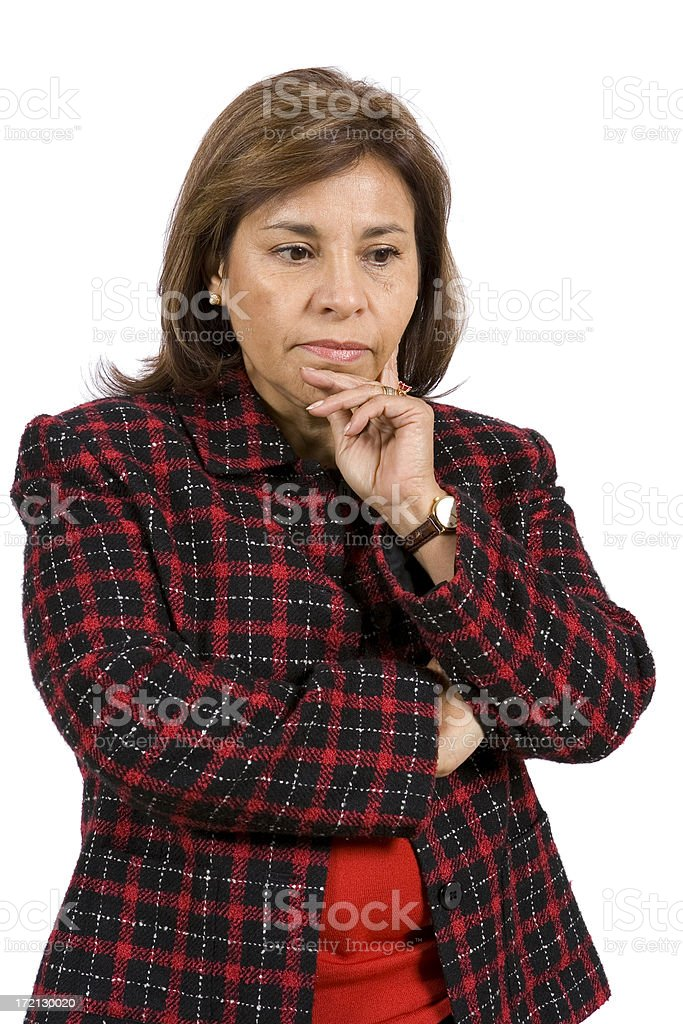 Isolated Portraits-Mature Hispanic Woman royalty-free stock photo
