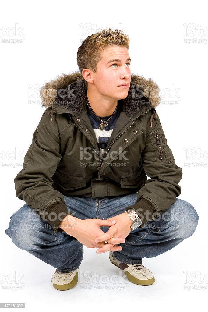 Isolated Portraits-Young Casual Guy royalty-free stock photo
