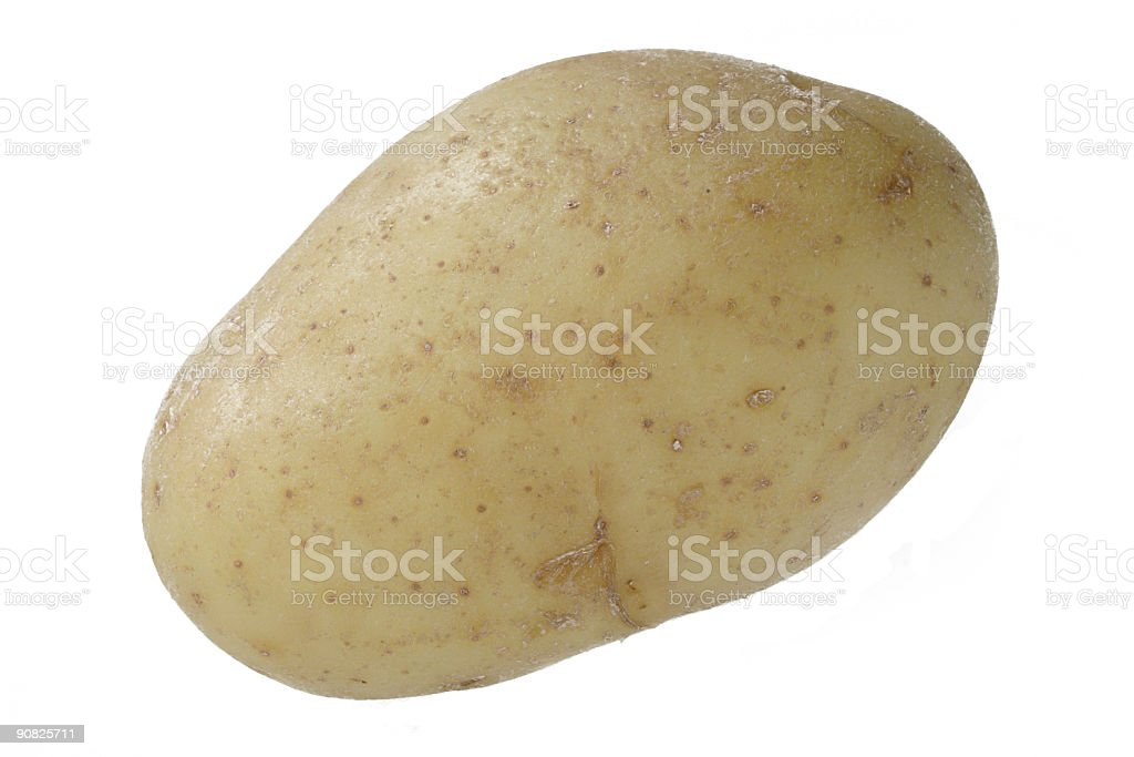 isolated potato royalty-free stock photo