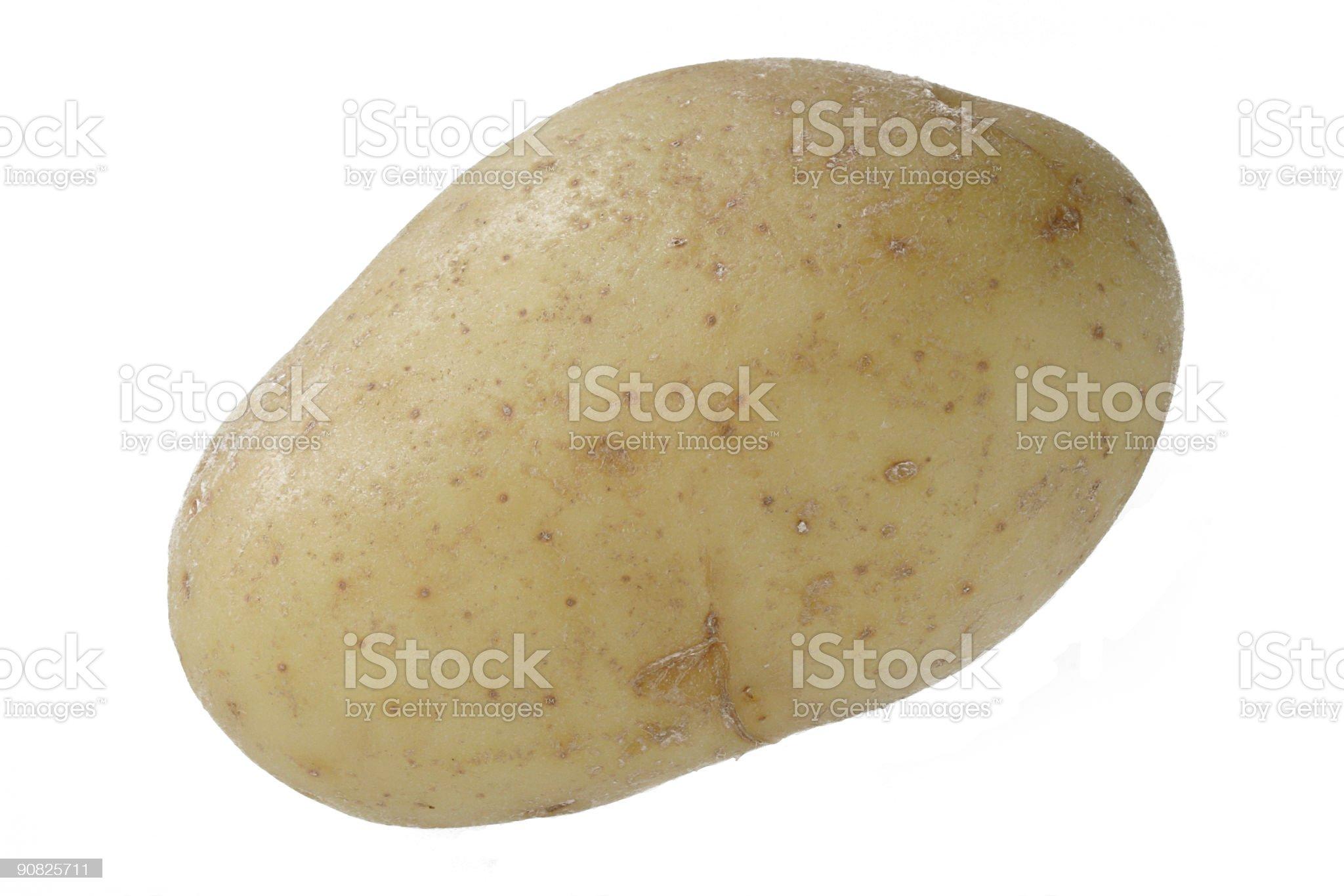 isolated potato royalty-free stock photo