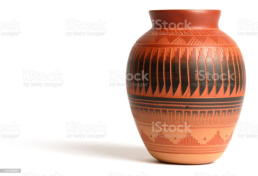 Isolated pottery on a white background stock photo