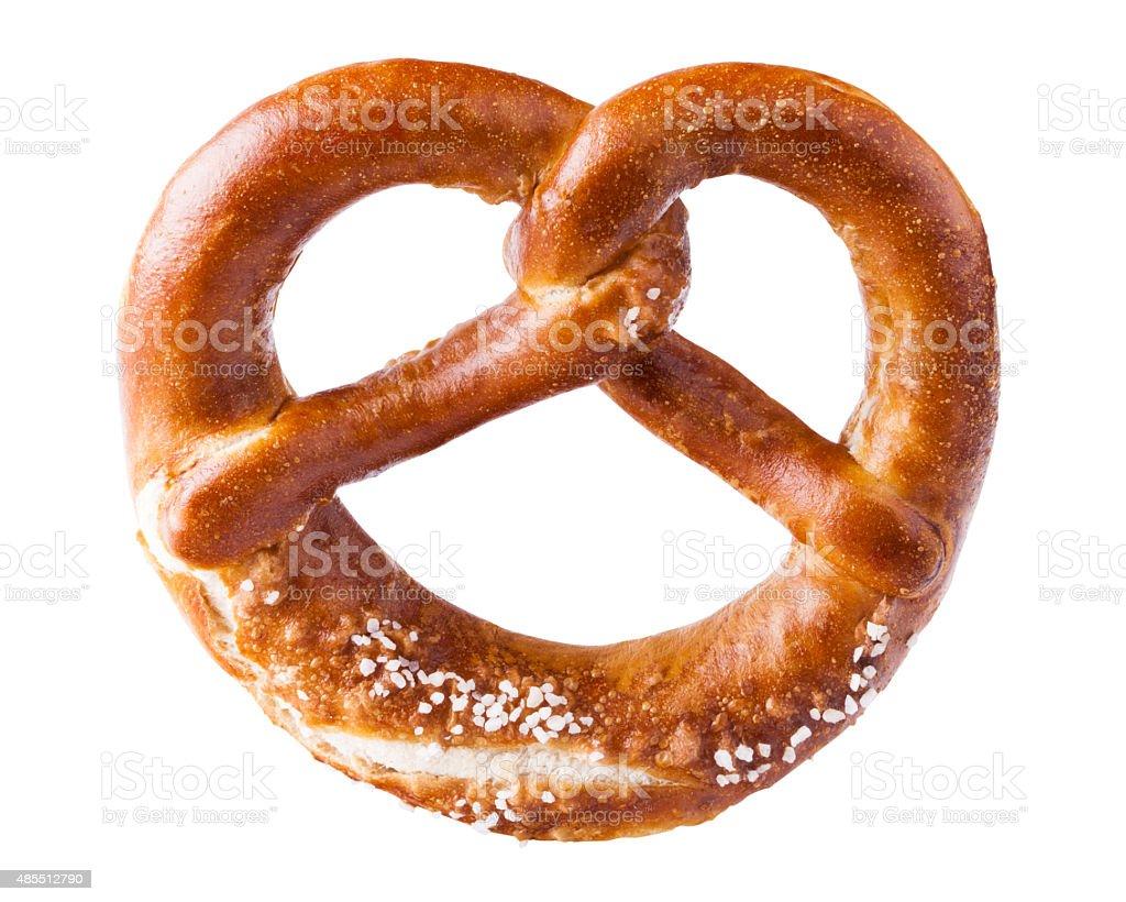 isolated pretzel stock photo