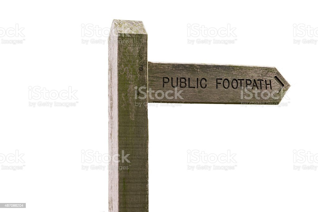 Isolated Public Footpath Sign royalty-free stock photo
