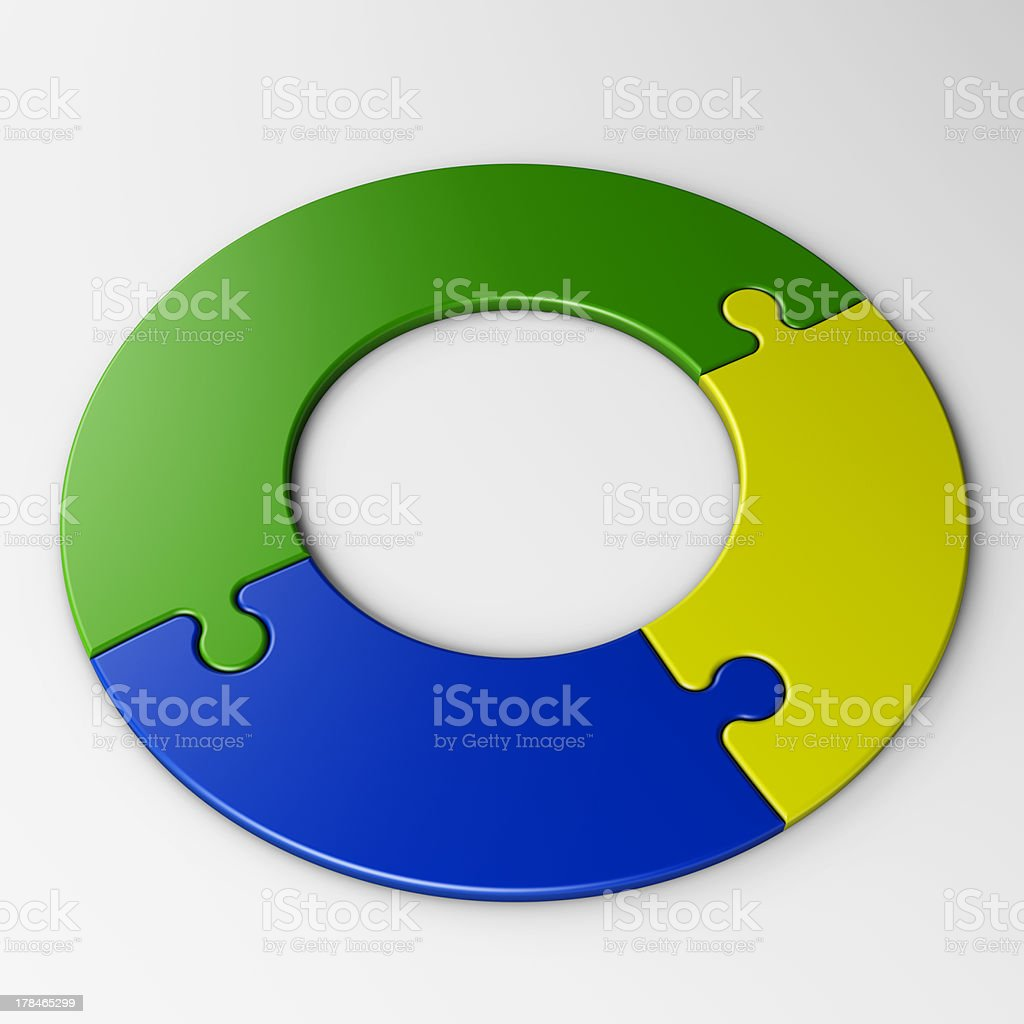 isolated puzzle pieces to place concepts with clipping path royalty-free stock photo