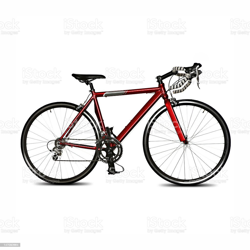 isolated racing bicycle royalty-free stock photo