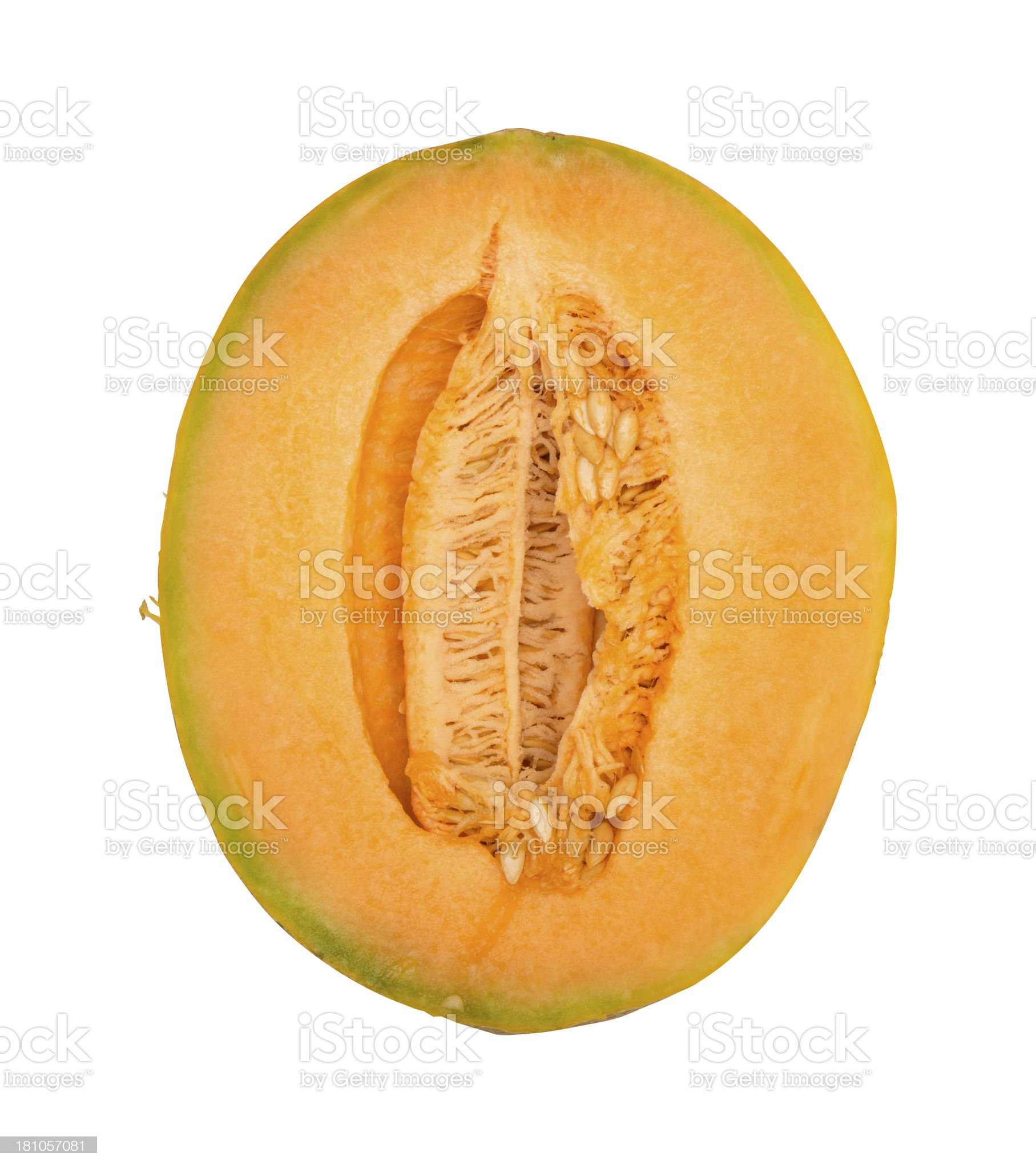 Isolated Raw Cantelope royalty-free stock photo
